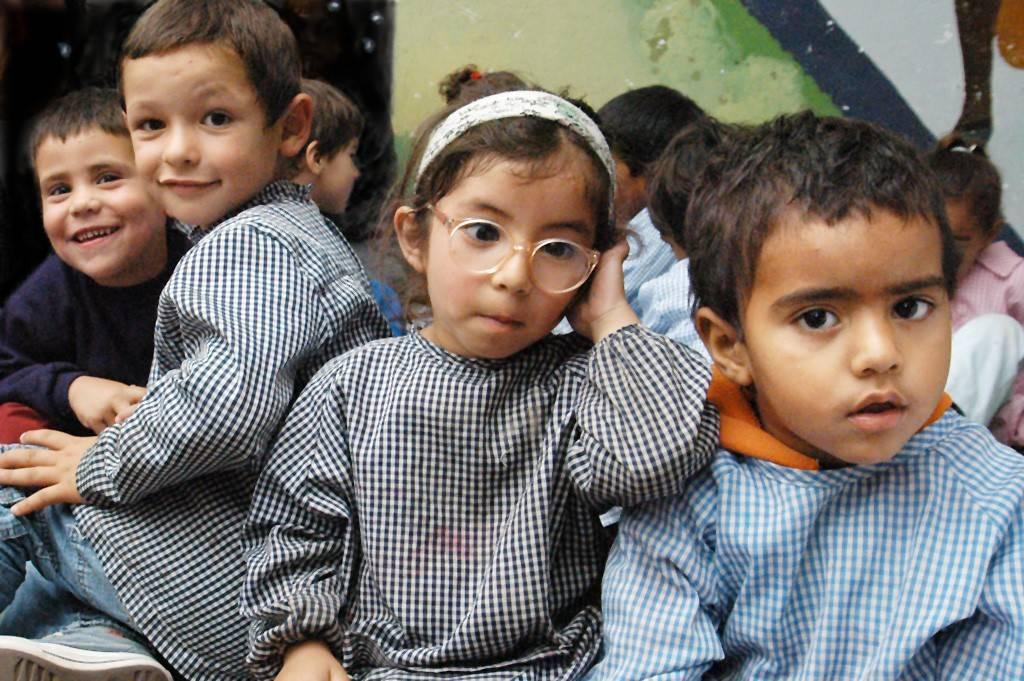 kindergarten kids at school