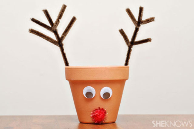 Christmas Reindeer Pot