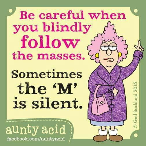 Blindly following others