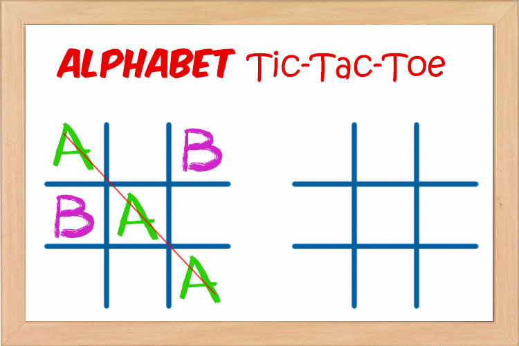 Alphabet Tic Tac Toe Board Game