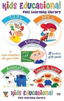 Kids Educational Set 1 (Set of 5 DVD's)