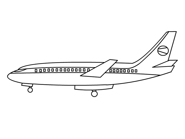 airplane free printable coloring page for kids - Airplane Coloring Pages Printable
