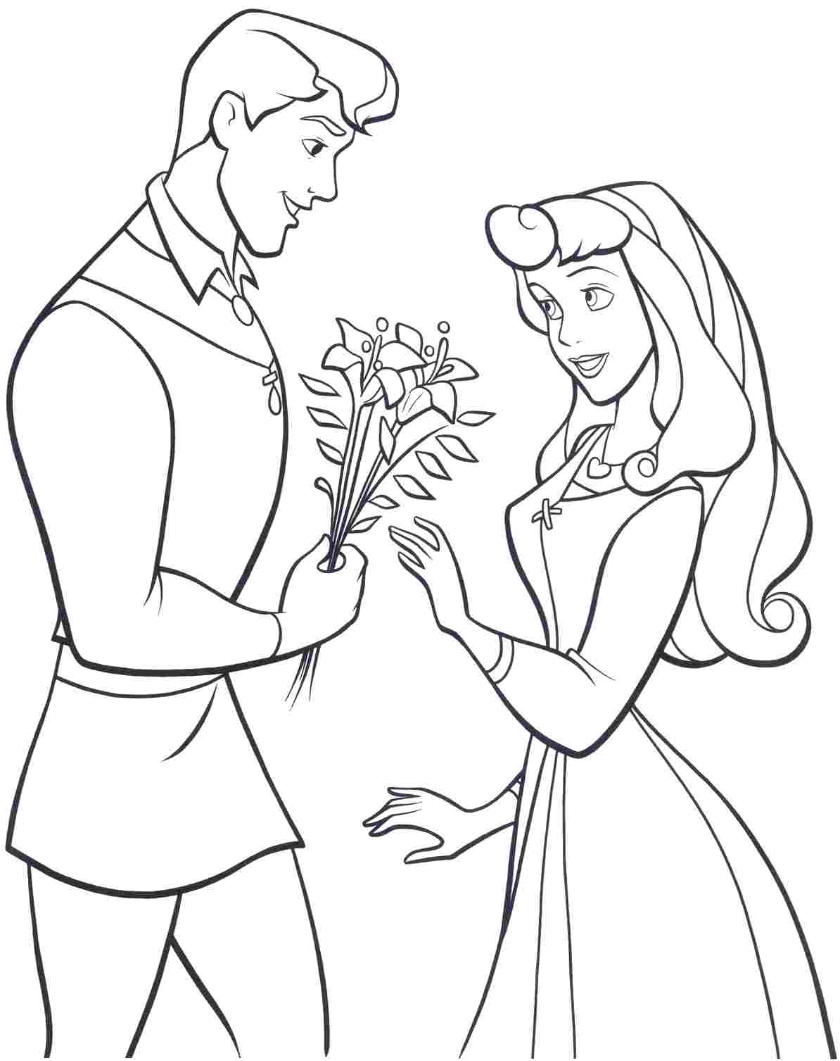 Disney Princess Aurora - Download Printable Coloring Image