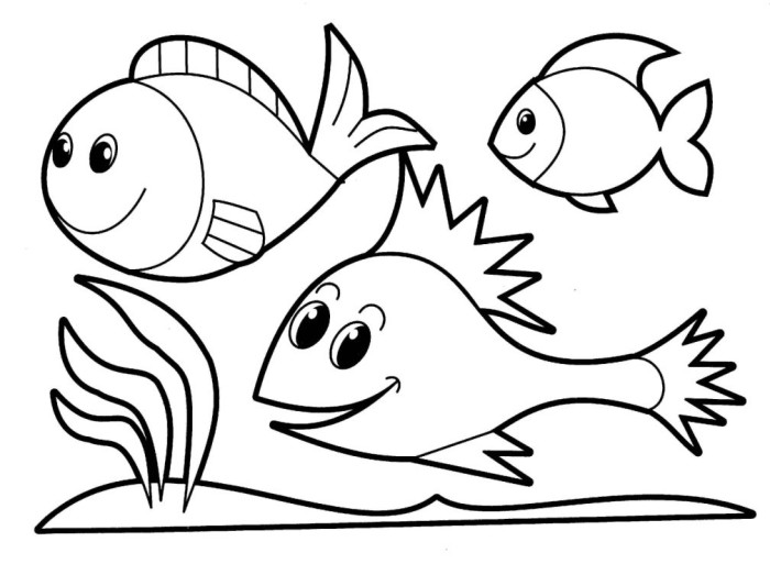 Fishes - Free Coloring Page for Kids