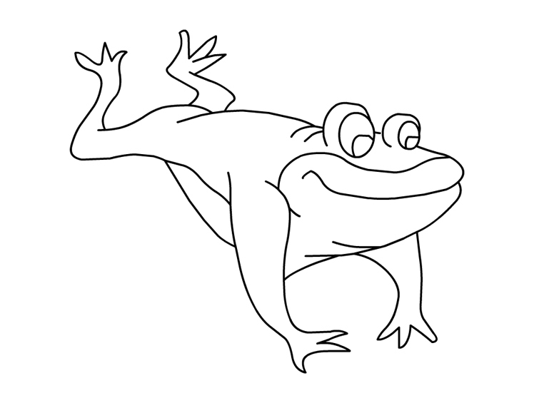Frog - Free Coloring Page for Kids
