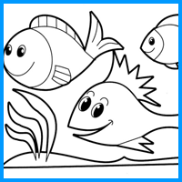 Coloring Image - Fishes