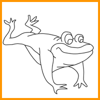 Coloring Image - Frog