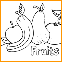 Coloring Image - Fruits