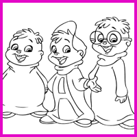 Coloring Image Three Friends
