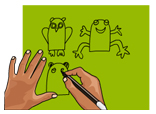 Finger Puppets Craft Drawing