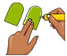 Finger Puppets Craft Coloring