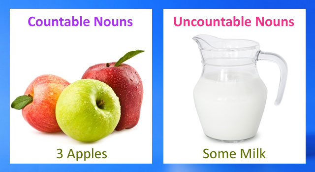 Countable and uncountable nouns free lessons and worksheets
