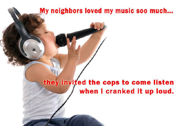 Funny Child Singing Photo