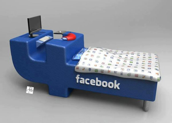 Funny Image - Facebook bed