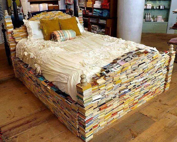 Funny bed of books