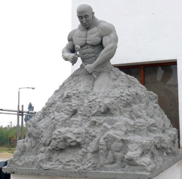 Funny Statue Making