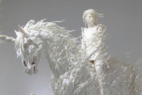 Beautiful Art - lady with silver horse