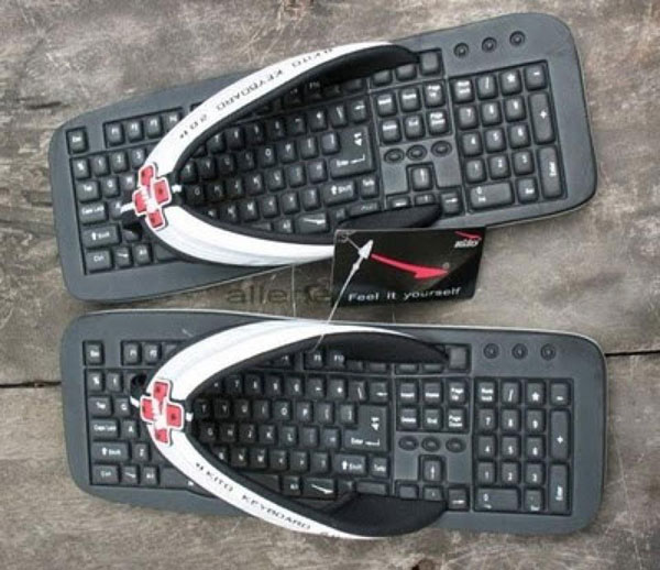 Funny Keyboard Slipper Image