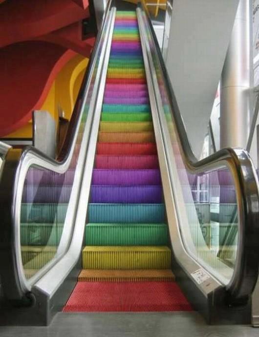 Colourful Escalator