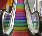 Colourful Escalator