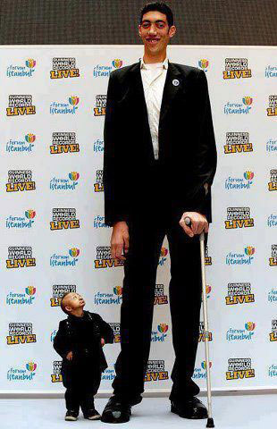 Shortest And Tallest Men Of The World