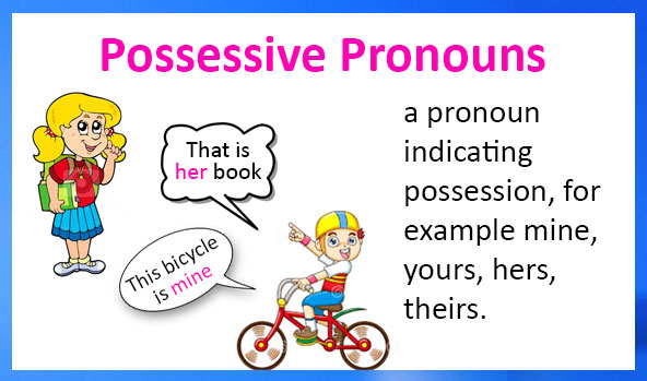Possessive Pronouns : Definition, Examples and Printable Worksheets
