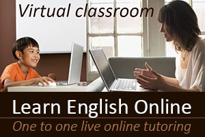 Learn English Online - one to one live tutoring