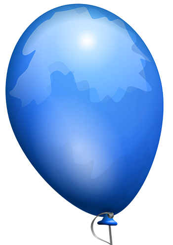 Blue Color Baloon