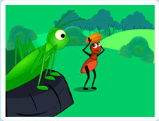 It is a graphic of Dynamic The Ant and the Grasshopper Story Printable