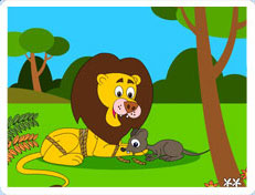 picture regarding The Lion and the Mouse Story Printable named The Lion and the Mouse Fable Limited Tale On the web