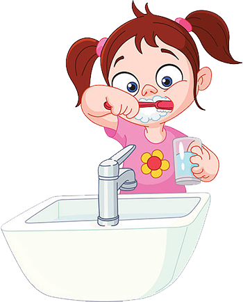 Chocolate Land Story Girl Brushing Teeth