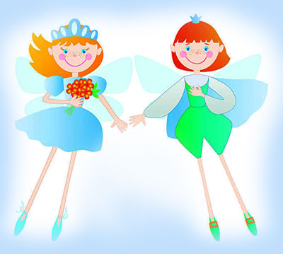 The Two Little Fairies in the Forest
