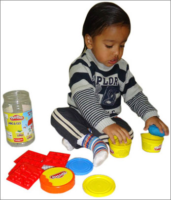 Fun Skool Play – Doh ABC 123 - Toy Game